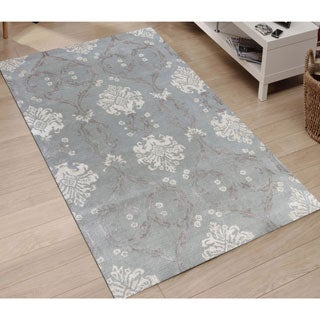 Hand-tufted Saint Thomas White Ice Blended New Zealand Wool and Art Silk Rug (8' x 11')