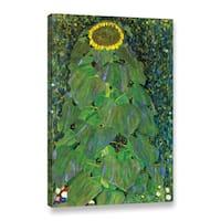 ArtWall Gustav Klimt's 'The Sunflower' Gallery Wrapped Canvas - Multi