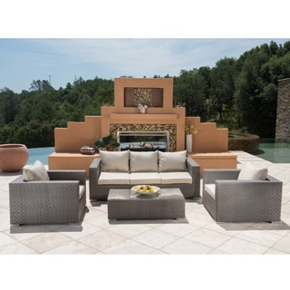 Corvus Diana Taupe 4-piece Outdoor Seating Set