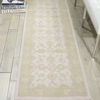"Nourison Zephyr Ivory Green Area Rug (2'3 x 8') - 2'3""x 8'"