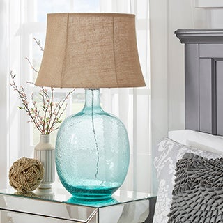 TRIBECCA HOME Catharine Sea Breeze Glass Table Lamp