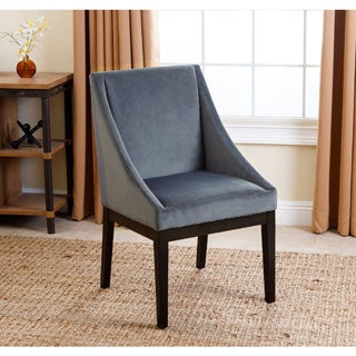 Abbyson Hayes Slate Blue Curved Dining Chair