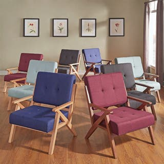 burgundy living room furniture. Emilia Midcentury Danish Modern Arm Chair iNSPIRE Q Burgundy Living Room Chairs For Less  Overstock com