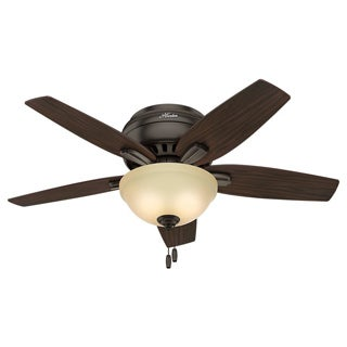 Hunter Fan Newsome Collection 42-inch Premier Bronze with 5 Roasted Walnut/ Yellow Walnut Reversible Blades