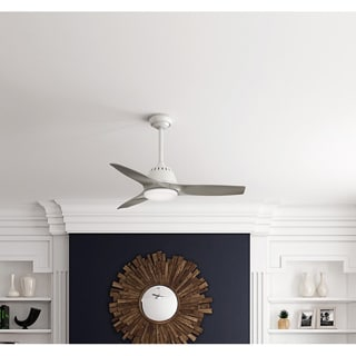 Casablanca Fan Wisp 44-inch Fresh White with 3 Pewter Blades