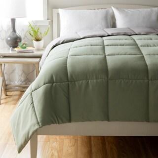 Cheer Collection Down Alternative Hypoallergenic Reversible Comforter