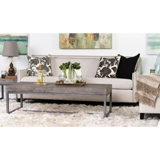 Kosas Home Parker Pine and Iron 60 inch Coffee Table