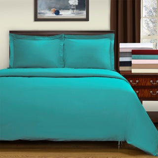 Superior 400 Thread Count Premium Combed Cotton 3-piece Solid Duvet Cover Set