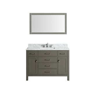 Bella Grey 48 Inch Single Bathroom Vanity Set with Mirror