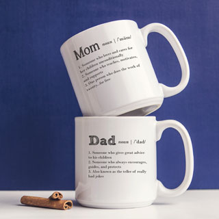 20 Ounce Parent Definition Coffee Mugs (Set of 2)