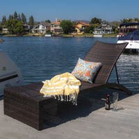 Turin Outdoor Adjustable Wicker Chaise Lounge by Christopher Knight Home