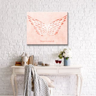 Ready2HangArt 'You gave me Wings to Fly II' Wrapped Canvas Art