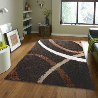 Home Dynamix Synergy Collection Contemporary Brown Area Rug (3'3 x 4'3)