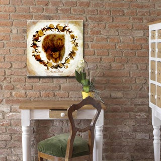 Ready2HangArt 'Mama Bear' Wrapped Canvas Art