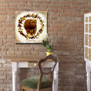 Mama Bear' Wrapped Canvas Kids Wall Art