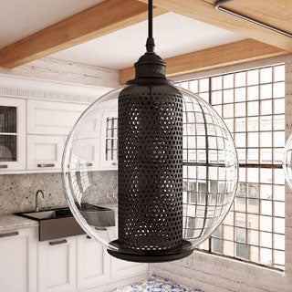 Vonn Lighting Delphinus Adjustable Hanging Industrial Mixed-Media Pendant Lighting with Filament Bulb in Architectural Bronze