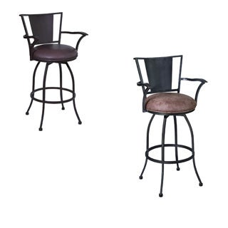Armen Living Dynasty 26-inch Arm Metal Swivel Counter Height Barstool