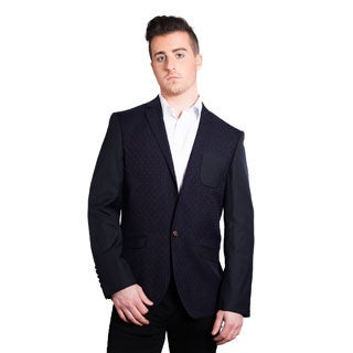 Elie Balleh Milano Italy Men's Cotton Slim Fit 2015 Style Jacket/Blazer (Option: M)