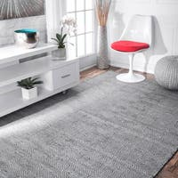 nuLOOM Handmade Flatweave Concentric Diamond Trellis Wool/ Cotton Rug (10' x 14')