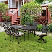 Furniture of America Camille I 7-piece Outdoor Metal Dining Set