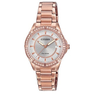 Citizen Women's Rose Goldtone Stainless Steel Drive POV Collection Eco-Drive Watch