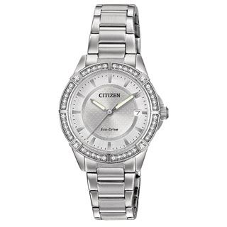 Citizen Women's Stainless Steel Drive POV Collection Eco-Drive Watch