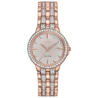 Citizen Women's Rose Goldtone Stainless Steel Silhouette Crystal Eco-Drive Two-tone Dial Austrian Crystal Watch