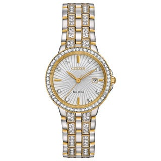 Citizen Women's Two-tone Stainless Steel Silhouette Crystal Eco-Drive Austrian Crystal Watch