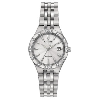 Citizen Women's Stainless Steel Diamond Eco-Drive Watch