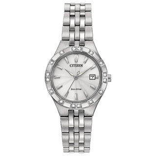 Citizen Women's Stainless Steel Diamond Eco-Drive Watch