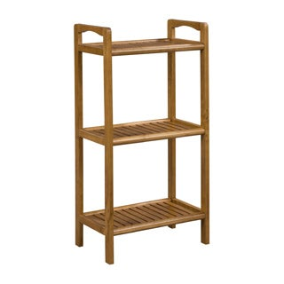 New Ridge Home Abingdon Cinnamon Solid Birch Wood 3 Shelf Tower