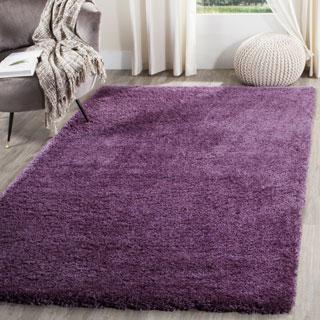 Safavieh Reno Shag Purple Polyester Rug (5' 1 x 7' 6)
