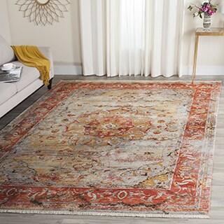 Safavieh Vintage Persian Oriental Saffron/ Cream Distressed Polyester Rug (3' x 5')