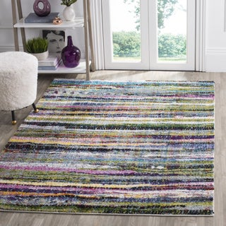 Safavieh Fiesta Shag Abstract Watercolor Multicolored Rug (5' 1 x 7' 6)