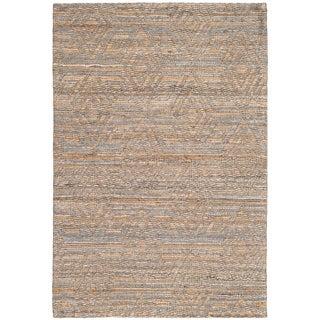 Safavieh Cape Cod Handmade Grey / Sand Jute Natural Fiber Rug (2' x 3')