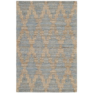Safavieh Cape Cod Handmade Light Blue / Gold Jute Natural Fiber Rug (2' x 3')