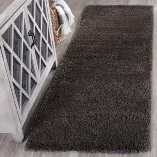 Safavieh Reno Shag Dark Grey Polyester Rug (2' 3 x 7')