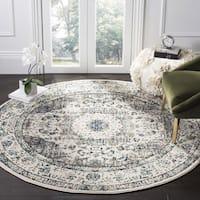 Safavieh Evoke Vintage Oriental Grey / Ivory Distressed Rug (9' Round) - 9'