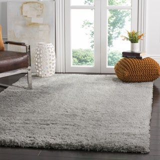 safavieh indie shag grey polyester rug 5u0027 1 x - 5x8 Rugs
