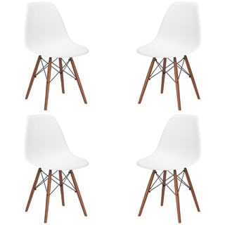 X-frame Wire and Walnut Matte Dining Chairs (Set of 4)