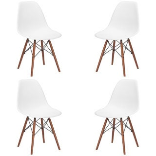 poly and bark vortex dining chair with walnut legs set of 4https