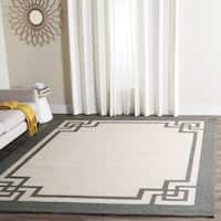 Safavieh Hand-Hooked Four Seasons Greek Key Ivory / Charcoal Rug - 8' x 10'