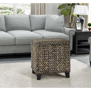 Gallerie Decor Bali Breeze Square Storage Ottoman