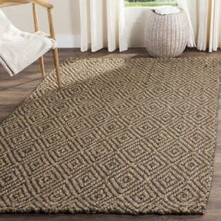 Safavieh Casual Natural Fiber Hand-Woven Natural / Grey Jute Rug (4' x 6')