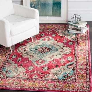 The Curated Nomad Bernal Bohemian Medallion Distressed Rug (6'7 x 9'2)