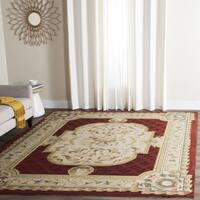 Safavieh Hand-hooked Easy to Care Ivory/ Red Rug (8' x 10')