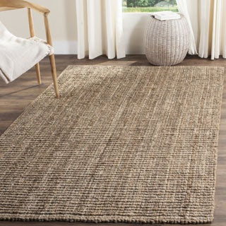 Safavieh Casual Natural Fiber Hand-Woven Natural / Grey Chunky Thick Jute Rug (9' x 12')