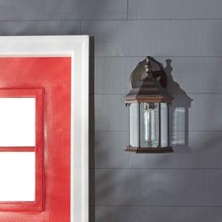 Capital Lighting Traditional Single Light Old Bronze Outdoor Wall Lantern