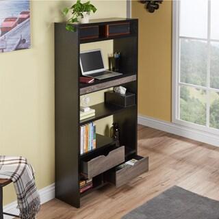 Furniture of America Maila Two-tone Standing Desk/ Bookcase