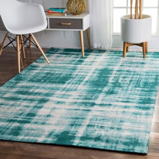 nuLOOM Contemporary Casual Overdyed Blue Rug (7'6 x 9'6)